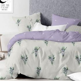 Комплект постельного белья Евро, печатный сатин 523-6