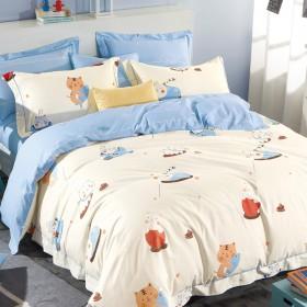 Комплект постельного белья 1,5-спальный, печатный сатин 528-4S
