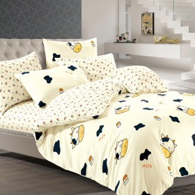Комплект постельного белья 1,5-спальный, печатный сатин 540-4XS