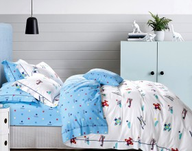 Комплект постельного белья 1,5-спальный, печатный сатин 541-4XS