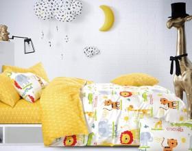 Комплект постельного белья 1,5-спальный, печатный сатин 542-4XS