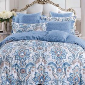 Комплект постельного белья Семейный, печатный сатин 554-7