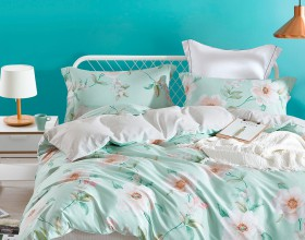 Комплект постельного белья 1,5-спальный, печатный сатин 556-4S