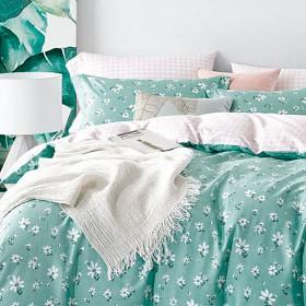Комплект постельного белья 1,5-спальный, печатный сатин 559-4S