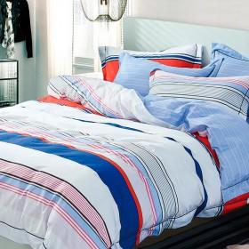 Комплект постельного белья Евро, печатный сатин 566-6