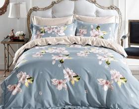 Комплект постельного белья Семейный, печатный сатин 570-7