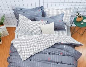 Комплект постельного белья 1,5-спальный, печатный сатин 580-4S