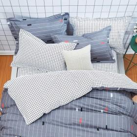 Комплект постельного белья Евро, печатный сатин 580-6