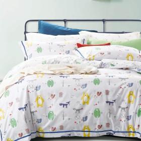 Комплект постельного белья 1,5-спальный, печатный сатин 996-4S