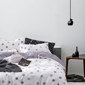Комплект постельного белья Семейный, печатный сатин 1353-7