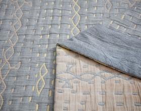 Плед ЛЕТНИЙ хлопковый муслин, наполнитель искусственный шелк 160х220 см, 1513-OS