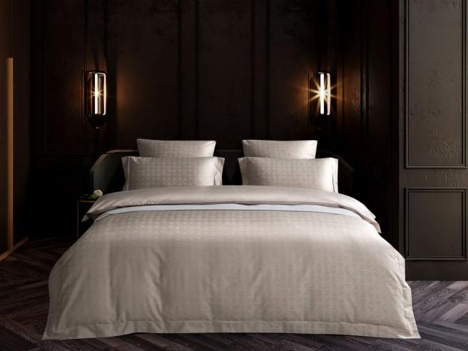 Комплект постельного белья 1,5-спальный, хлопковый жаккард 1514-4S