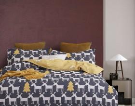 Комплект постельного белья 1,5-спальный, фланель 1659-4S