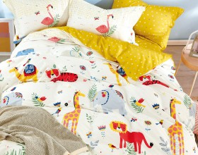 Комплект постельного белья 1,5-спальный, печатный сатин 1558-4S