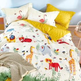 Комплект постельного белья 1,5-спальный, печатный сатин 1558-4XS