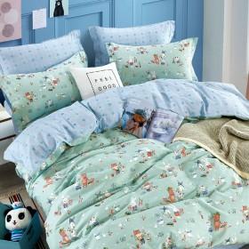Комплект постельного белья 1,5-спальный, печатный сатин 1561-4XS