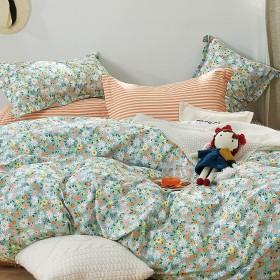 Комплект постельного белья 1,5-спальный, печатный сатин 1562-4S