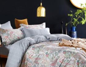 Комплект постельного белья 1,5-спальный, печатный сатин 1567-4S