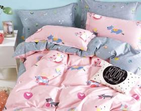 Комплект постельного белья 1,5-спальный, печатный сатин 1569-4S