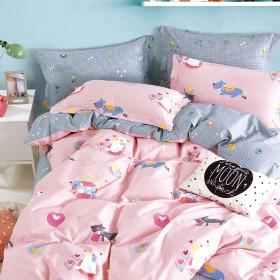 Комплект постельного белья 1,5-спальный, печатный сатин 1569-4XS