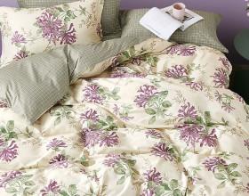 Комплект постельного белья 1,5-спальный, печатный сатин 1571-4S