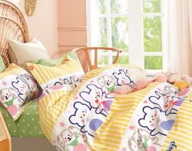 Комплект постельного белья 1,5-спальный, печатный сатин 1572-4S