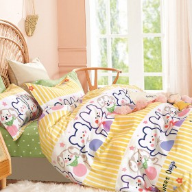 Комплект постельного белья 1,5-спальный, печатный сатин 1572-4XS