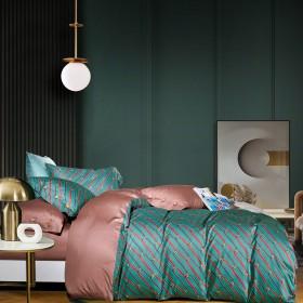 Комплект постельного белья 1,5-спальный, египетский хлопок 1592-4S