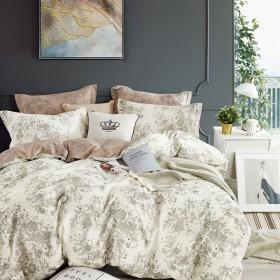Комплект постельного белья 1,5-спальный, печатный сатин 1616-4S