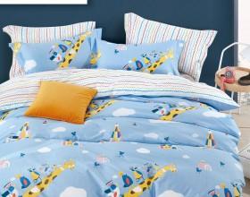 Комплект постельного белья 1,5-спальный, печатный сатин 1618-4S
