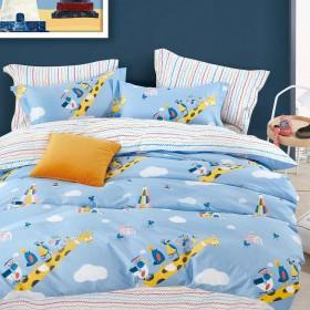 Комплект постельного белья 1,5-спальный, печатный сатин 1618-4XS