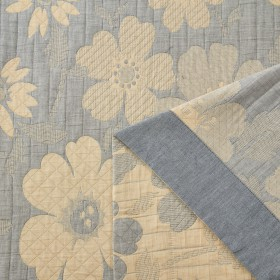 Плед ЛЕТНИЙ хлопковый муслин, наполнитель искусственный шелк 200х220 см, 1622-OM