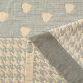Плед ЛЕТНИЙ хлопковый муслин, наполнитель искусственный шелк 200х220 см, 1623-OM