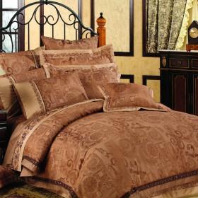 Комплект постельного белья Евро, жаккард 574-4