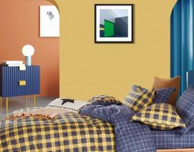 Комплект постельного белья 1,5-спальный, печатный сатин 1544-4S