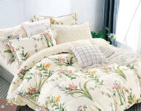 Комплект постельного белья 1,5-спальный, печатный сатин 1549-4S