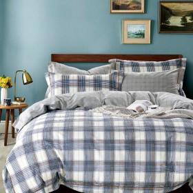 Комплект постельного белья Семейный, печатный сатин 1550-7