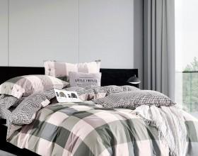 Комплект постельного белья 1,5-спальный, печатный сатин 1552-4S