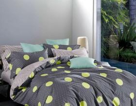Комплект постельного белья 1,5-спальный, печатный сатин 1554-4S