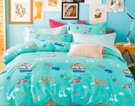 Комплект постельного белья 1,5-спальный, печатный сатин 1031-4S