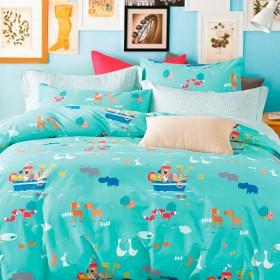 Комплект постельного белья 1,5-спальный, печатный сатин 1031-4XS