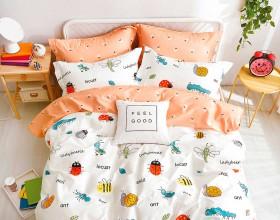 Комплект постельного белья 1,5-спальный, печатный сатин 1224-4S