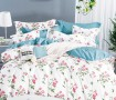 Комплект постельного белья 1,5-спальный, печатный сатин 1235-4S