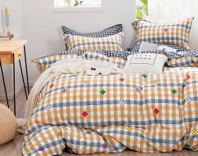 Комплект постельного белья 1,5-спальный, печатный сатин 1325-4S