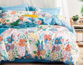 Комплект постельного белья 1,5-спальный, печатный сатин 1333-4S