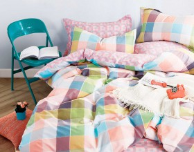 Комплект постельного белья 1,5-спальный, печатный сатин 1335-4S
