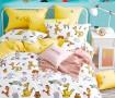 Комплект постельного белья 1,5-спальный, печатный сатин 1358-4XS