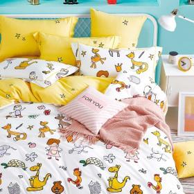 Комплект постельного белья 1,5-спальный, печатный сатин 1358-4S