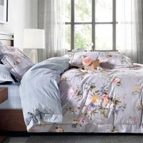 Комплект постельного белья Евро, печатный сатин 1366-6