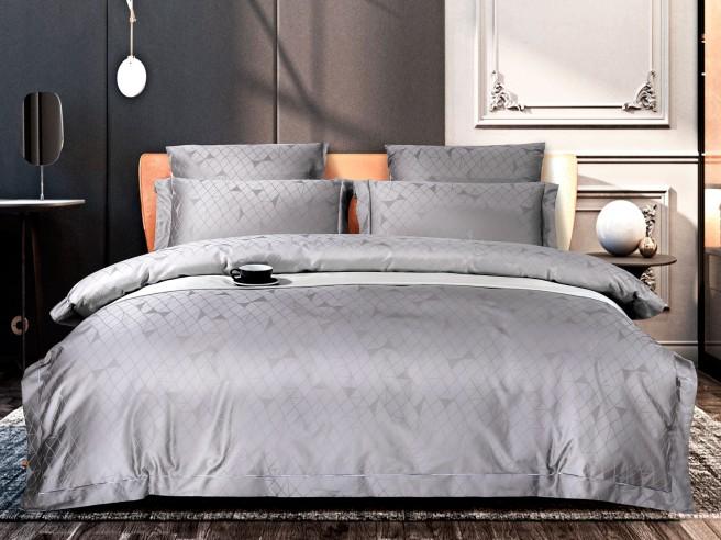 Комплект постельного белья Семейный, хлопковый жаккард 1385-7
